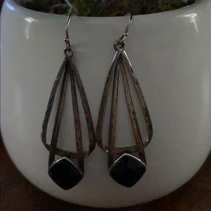 Silpada Sterling Silver  Black Onyx Earrings